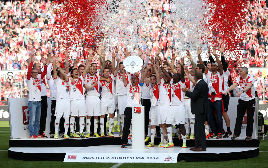 FC Köln celebrates league title